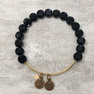 ALEX AND ANI Black Faceted ENERGY Bead Bracelet